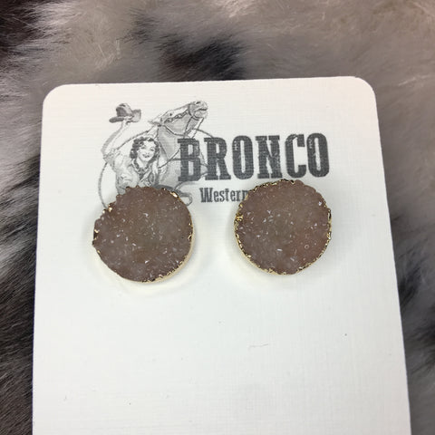 What a Doozy Druzy Stud Earrings - Bronco Western Supply Co.