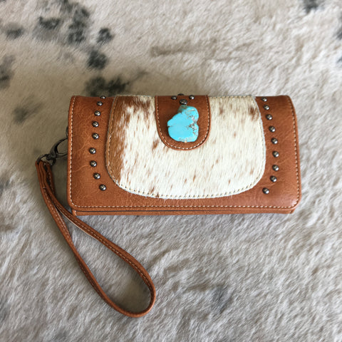 Trinity Ranch Hair-On Cowhide Collection Wallet/Wristlet