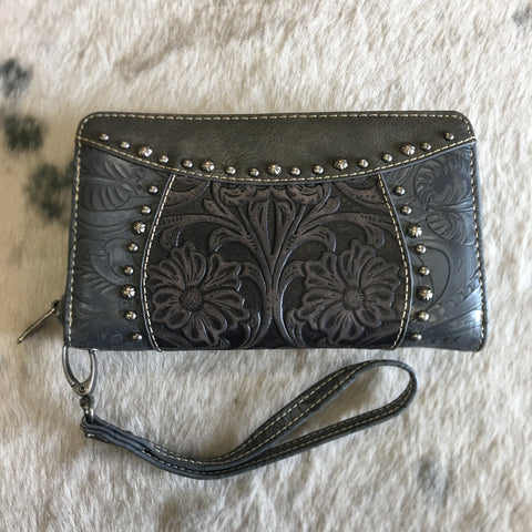 Trinity Ranch Western Double Tooled Wallet - Bronco Western Supply Co.