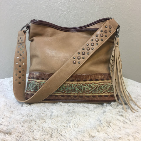 Trinity Ranch Tooled Leather Collection Concealed Carry Hobo Purse