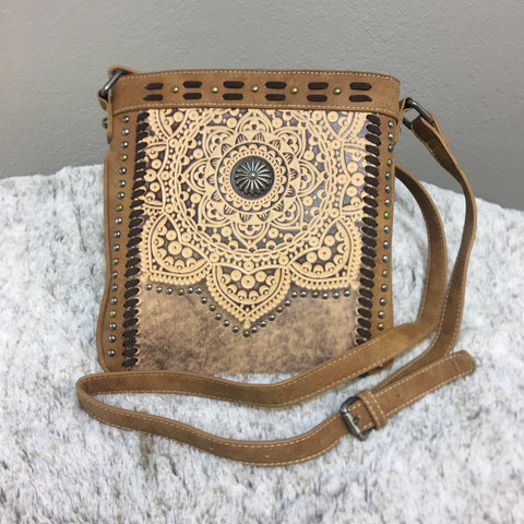 Trinity Ranch Tooled Leather Collection Crossbody Purse