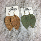 Pop a Bottle Cork Leaf Earring - Bronco Western Supply Co.