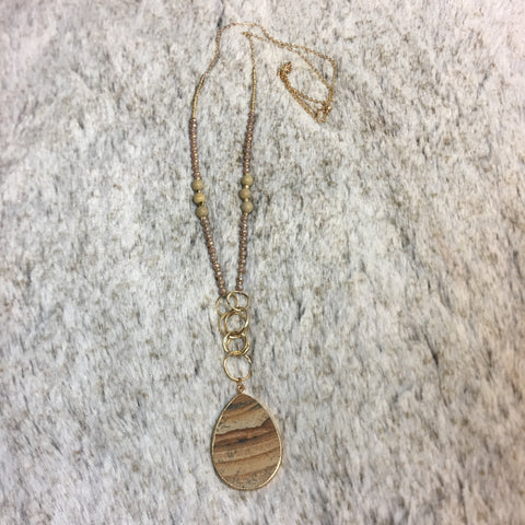 Sandstone Teardrop Pendant Necklace - Bronco Western Supply Co.