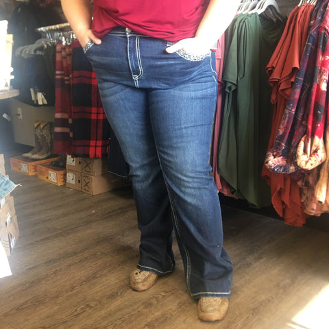 Grace In LA Path Less Traveled Plus Straight Jean - Bronco Western Supply Co.