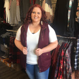 Sugar Plum Faux Fur Lined Vest - Bronco Western Supply Co.