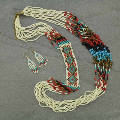 Convoy Seed Bead Necklace Set
