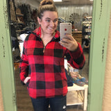 Cabin in the Woods Minky Buffalo Plaid 3/4 Zip - Bronco Western Supply Co.