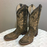 Beige Filigree Circle G Corral Women's Boot - Bronco Western Supply Co.