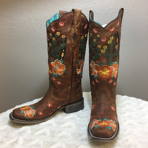 Honey Cactus Corral Boot - Bronco Western Supply Co.