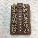 Montana West Leopard Print Collection Phone Case Crossbody Purse Wallet - Bronco Western Supply Co.