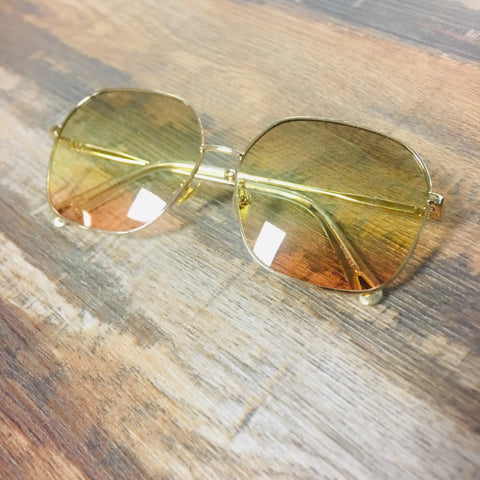 Sun Daze Oversized Metal Fashion Sunglasses - Bronco Western Supply Co.