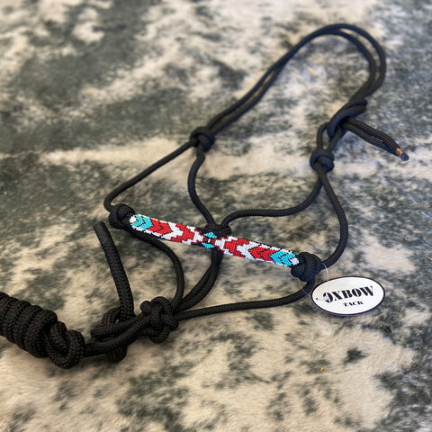 Beaded Nose Rope Halter with Lead - Bronco Western Supply Co.