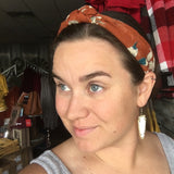 Petal to the Metal Rust Topknot Headband - Bronco Western Supply Co.