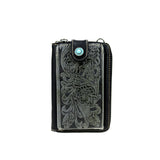 Montana West Western Tooled Phone Case Crossbody Purse Wallet - Bronco Western Supply Co.