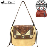Montana West Embossed Collection Concealed Carry Hobo Purse - Tan - Bronco Western Supply Co.