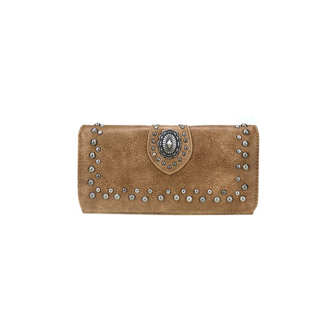 Montana West Aztec Collection Wallet/Wristlet - Brown - Bronco Western Supply Co.
