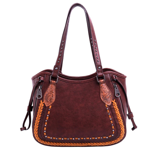 Montana West Tooled Collection Concealed Carry Tote Purse - Bronco Western Supply Co.