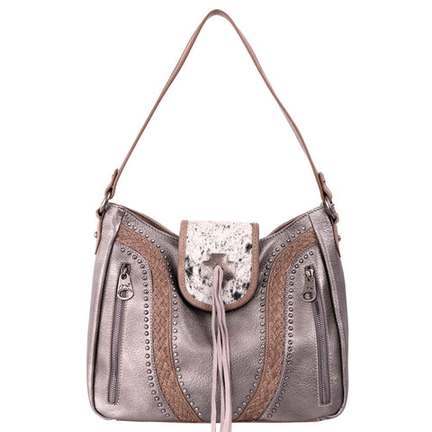 Montana West Hair-On Cowhide Collection Concealed Carry Hobo Purse - Bronco Western Supply Co.