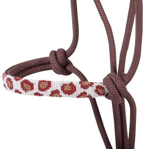 Beaded Nose Rope Halter with 9' Lead (Various Patterns) - Bronco Western Supply Co.