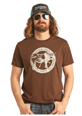 Buckin' Stock T-Shirt - Bronco Western Supply Co.