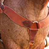 "3"" Double & Stitched Roper Breast Collar - Bronco Western Supply Co."