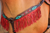 Aztec Beaded Breast Collar with Fringe - Bronco Western Supply Co.