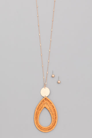Braided Teardrop Necklace Set - Bronco Western Supply Co.