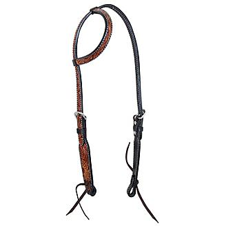 Oxbow Sunflower Tooled Slip Ear Headstall - Bronco Western Supply Co.