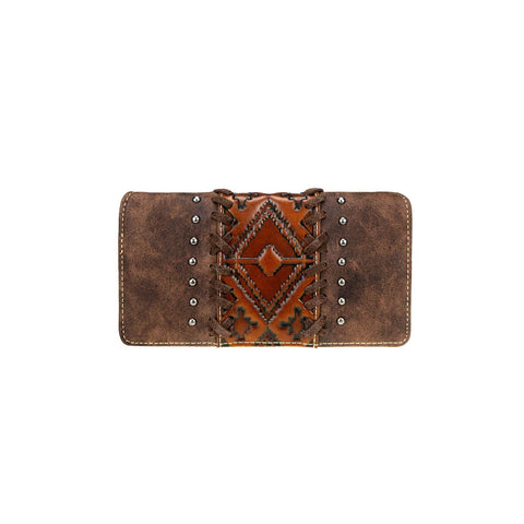 Trinity Ranch Embossed Collection Secretary Style Wallet - Bronco Western Supply Co.