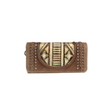 Trinity Ranch Tooled Collection Wallet/Wristlet - Coffee - Bronco Western Supply Co.