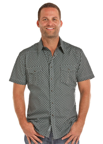 Short Sleeve Crinkle Wash Shirt