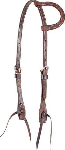 Martin Saddlery Slip Ear Headstall - Chestnut - Bronco Western Supply Co.