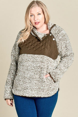 Snowy Days Sherpa Pullover