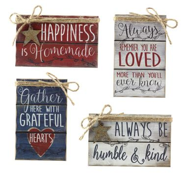 Happy Home Assorted Signs - Bronco Western Supply Co.