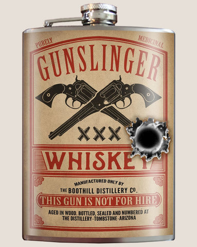 Gunslinger Whiskey Flask - Bronco Western Supply Co.