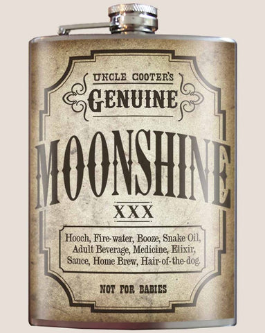Moonshine Flask - Bronco Western Supply Co.