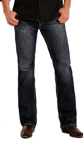 Pistol Straight - Flat Seams Dark Vintage Wash - Bronco Western Supply Co.