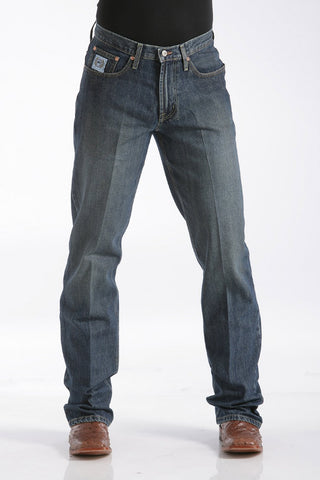 Men's Relaxed Fit White Label Jeans - Dark Stonewash - Bronco Western Supply Co.