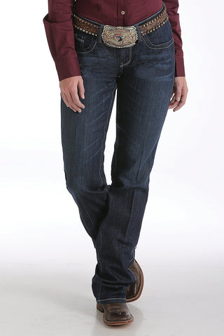 Women's Ada Relaxed Fit Dark Stonewash Jeans - Bronco Western Supply Co.