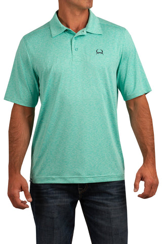 Cinch Arenaflex Polo - Heathered Turquoise - Bronco Western Supply Co.