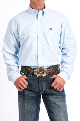 Light Blue Solid Button Down Western Shirt - Bronco Western Supply Co.