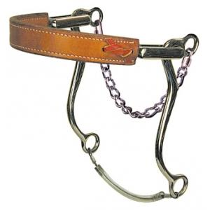 Mechanical Hackamore - Flat Leather Nose - Stage C - Bronco Western Supply Co.