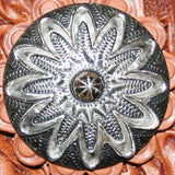 "1"" Antique Daisy Tooled Breast Collar"