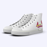 St. Louis Cardinals White High Tops Away Logo