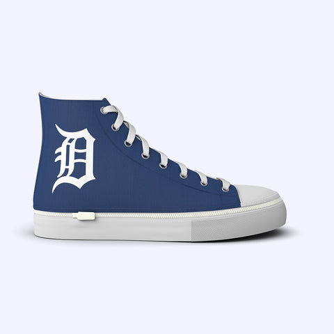 Detroit Tigers Blue High Tops Home Logo