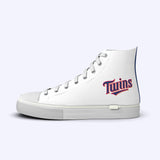 Minnesota Twins White High Tops Away Logo
