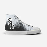 Chicago White Sox Black and Grey High Tops In The Dirt Design