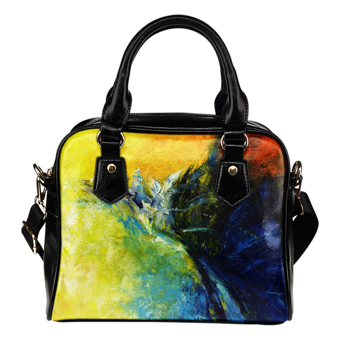 Yellow Art Shoulder Bag