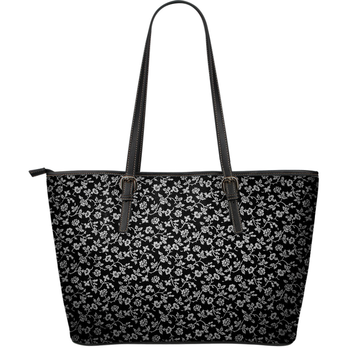 Floral Large Leather Tote