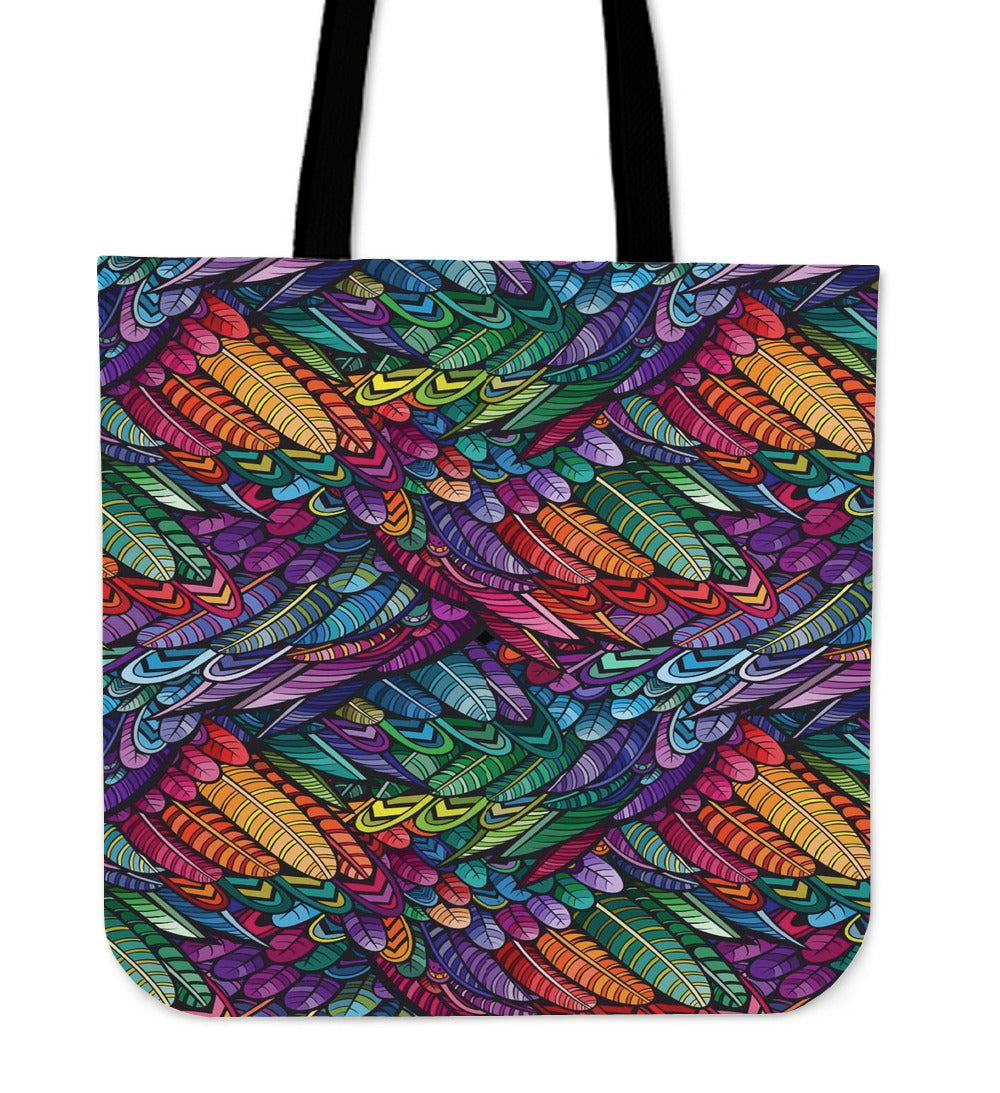 Boho Feather Cloth Tote Bag